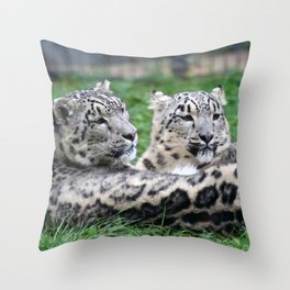 Aqua_Leopard_20180106_by_JAMColorsSpecial Throw Pillow