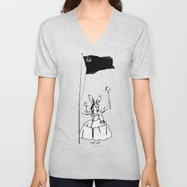 """Duchess Marguerite was a well known character; usually called """"La Petite Rouge"""". Unisex V-Neck"""