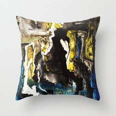 Sapphire Cave Throw Pillow