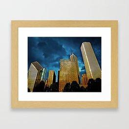 Glittering Chicago Skyline Framed Art Print