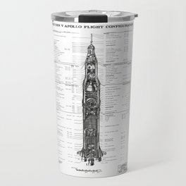 Apollo 11 Saturn V Blueprint in High Resolution (white) Travel Mug