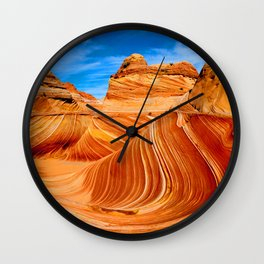 Blue & Brown Nature Wall Clock