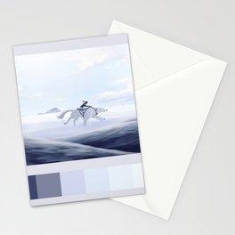 korra and naga palette Stationery Cards