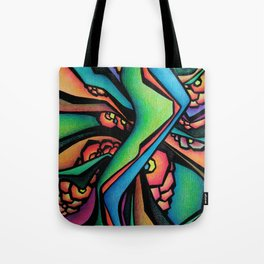 Abstract Intertwining green Tote Bag
