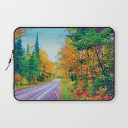 Back Road in the Fall Laptop Sleeve
