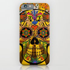 psychedelic Pop Skull 317A iPhone 6s Slim Case