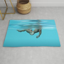 Swimming in the pool Rug