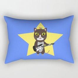 Rock-Music Cat Rectangular Pillow