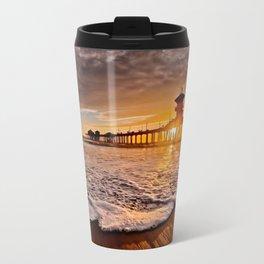 Surf City Sunsets -  Sunset At The Huntington Beach Pier 3/4/16 Travel Mug