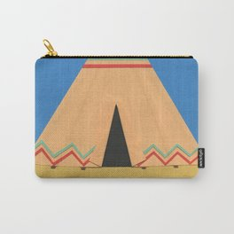 Tipi Green Red Carry-All Pouch