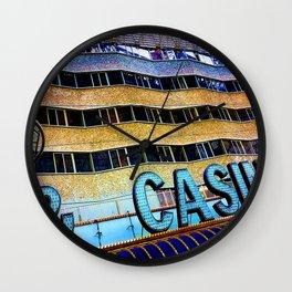 Pieces of Vegas Wall Clock