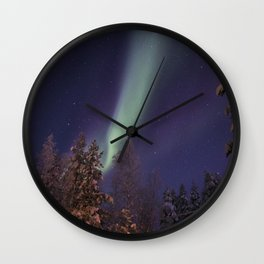 Finland lapland northern lights Wall Clock