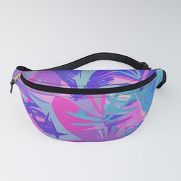 Tropical Leaves Abstract Fanny Pack