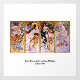 "Alfons Mucha, "" Four Seasons (1895)"" Art Print"
