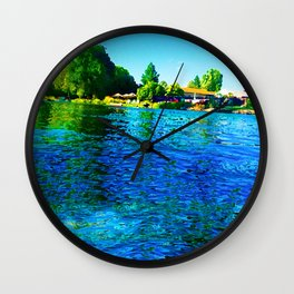 Bright River Flowing Wall Clock