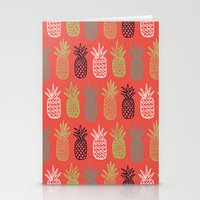 pineapples Stationery Cards featuring Pineapples by Annie Smith Designs