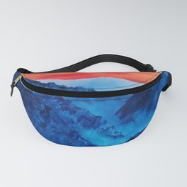 Mountains in Peru, Colorful Original Modern Oil Painting by Lu Fanny Pack