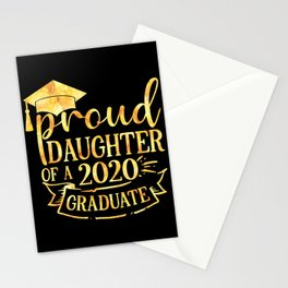 Proud Daughter of A 2020 Graduate Stationery Cards