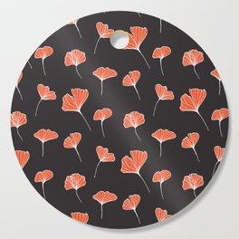 Ginkgo Biloba Leaves Pattern Dark #society6 #decor #buyart Cutting Board