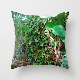 Tropical Forests II Throw Pillow