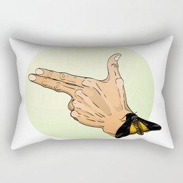 Finger gun Rectangular Pillow