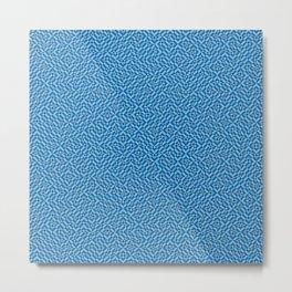 Blue Geo Pattern Metal Print