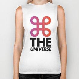 Command the universe (white) Biker Tank