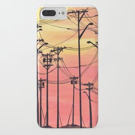 Industry poles sunset iPhone Case