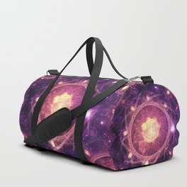 Emblazoned Gold & Royal Purple Mandala of the Stars Duffle Bag