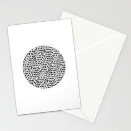 Mezzo Dot Circle Square Stationery Cards