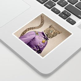 Grand Viceroy Leopold Leopard Sticker