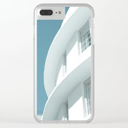 Art Deco Miami Beach #6 Clear iPhone Case