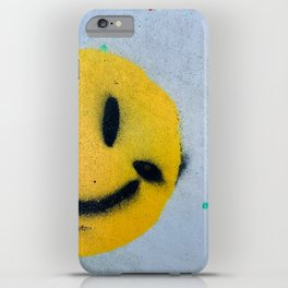Smiley Face Spray Paint iPhone Case