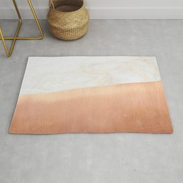 Gold Marble Copper Rug
