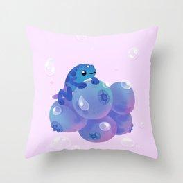Blueberry poison yogurt 1 Throw Pillow