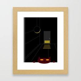 DBM Night Cat Framed Art Print