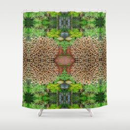 Happy Awesome Pixel Mandala #7 Shower Curtain