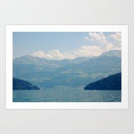 A Valley In Switzerland Art Print