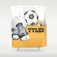 sports Shower Curtains featuring Sports by Neuneu Booboo