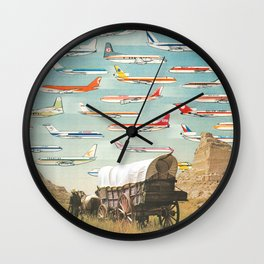Over There Yonder Wall Clock