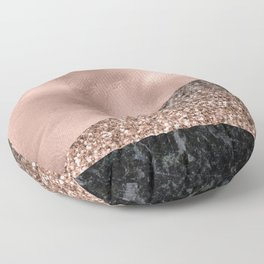 Rose gold fancy marble mix Floor Pillow