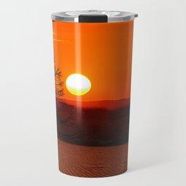 Desert Sunset Landscape Travel Mug