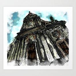 Saint George Church in Locorotondo (Italy) Art Print