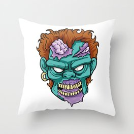 Zombie Horror Undead Gift Throw Pillow