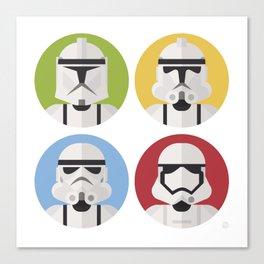 Stormtrooper evolution Canvas Print