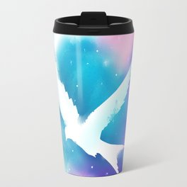 Bird Galaxy Watercolor Travel Mug