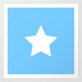 Falling Stars (blue star pattern) Art Print