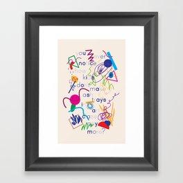 Haikuglyphics - A Brave New World Framed Art Print