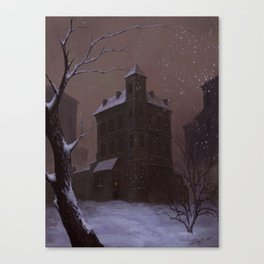 Memory of winter 1991. Canvas Print