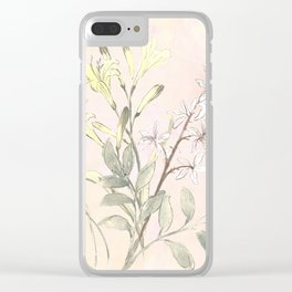 Floral collection in pastels Clear iPhone Case